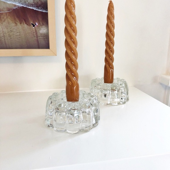 Vintage Glass Bubble Boopie Candle Holders